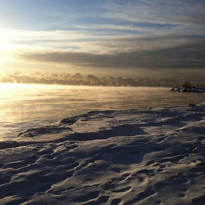 Morning Mist on Lake Ontario