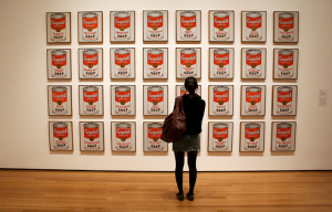 Andy Warhol's original Campbell's Soup cans artwork, on display at the MoMA, New York