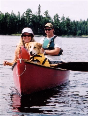 Our first canoe trip with Jessie