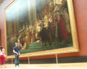 My triumph was seeing a brief look of awe with the sheer scale of this painting.